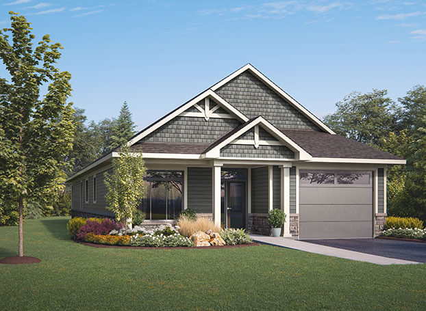 Rendering of single=level home in Upper Thames Village